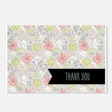 Floral Thank You Postcards (Package of 8)