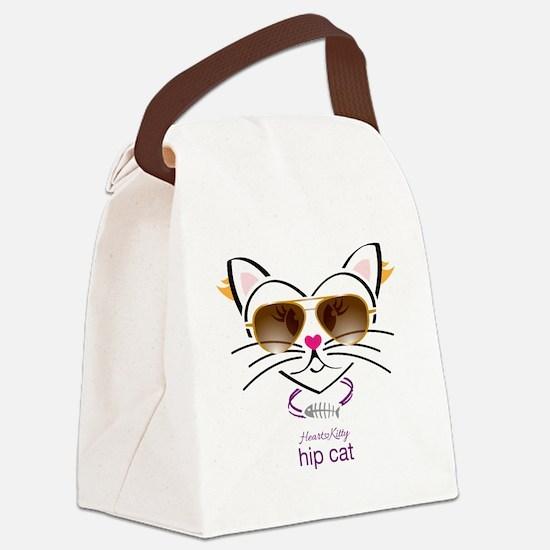 Hip Cat Canvas Lunch Bag