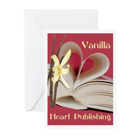 Vanilla Heart Greeting Cards (Pk of 10)