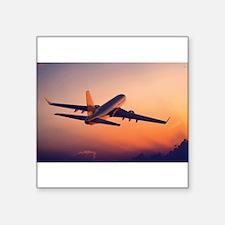"""Unique Airplanes Square Sticker 3"""" x 3"""""""
