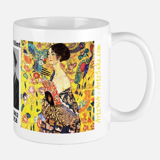Woman With A Fan by Klimt Mug