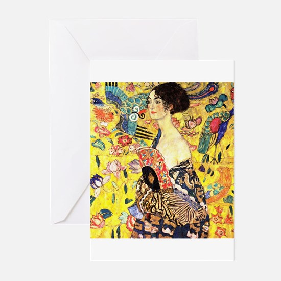 Woman With A Fan by Klim Greeting Cards (Pk of 10)