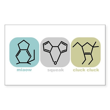 Molecular Animals Rectangle Sticker