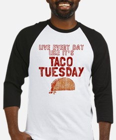 Live every day like it's Taco Tues Baseball Jersey