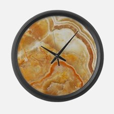Beige Tones Marble stone Large Wall Clock
