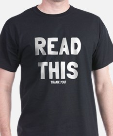 Read this thank you T-Shirt