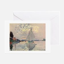Sailboat at Le Petit Gennevillier Greeting Card
