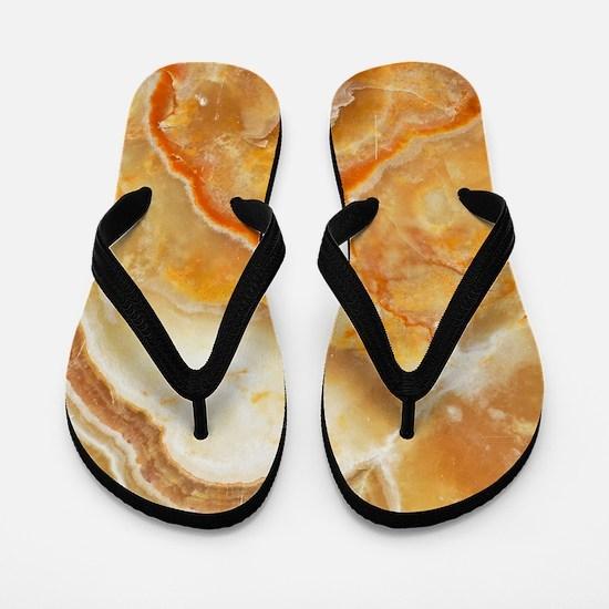 Beige Tones Marble stone Flip Flops