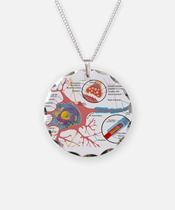 Neuron Cell Diagram Necklace