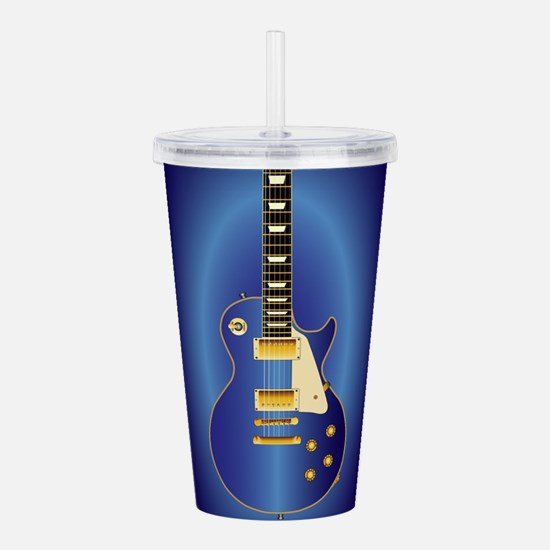 Blue Solid Electric Acrylic Double-wall Tumbler