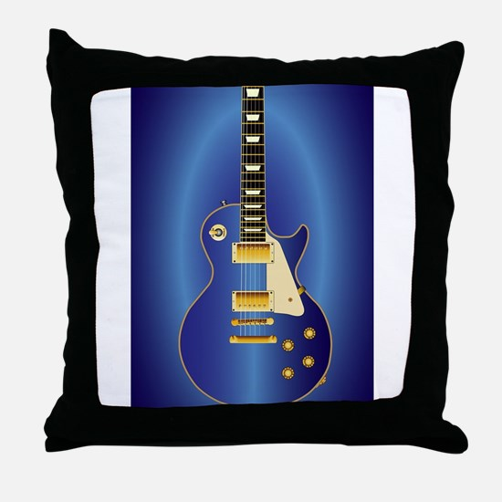 Blue Solid Electric Throw Pillow