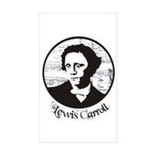 Lewis Carroll Rectangle Decal