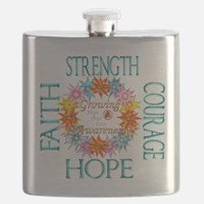 Faith Strength Courage CRPS RSD Growing Awar Flask