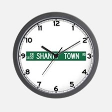 Shanty Town Road, Old Fort (NC) Wall Clock
