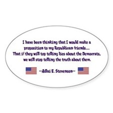 Adlai Stevenson Quote Oval Decal