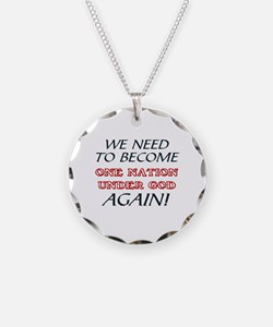 WE NEED TO   NATION UNDER GO Necklace