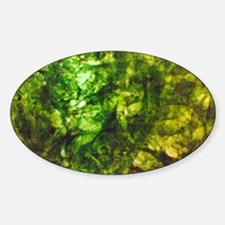 Green Textured Virginia's Fave  Sticker (Oval)