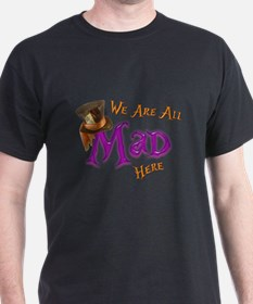 Funny Alice in wonderland cheshire cat T-Shirt