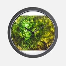 Green Textured Viola's Fave Wall Clock