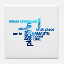 Namaste Meaning Word Cloud Tile Coaster