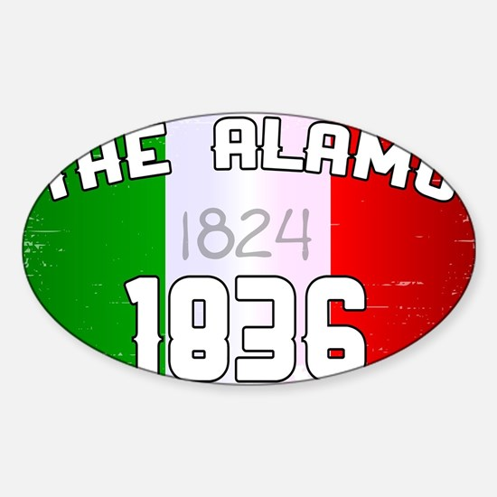 Alamo Flag and Date Decal