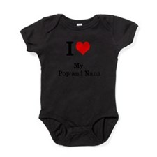 Cute I love nana and papa Baby Bodysuit