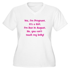 Pregnant Girl due August Bell T-Shirt