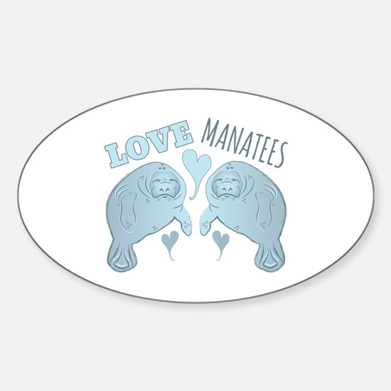 Love Manatees Decal