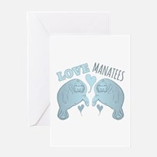 Love Manatees Greeting Cards