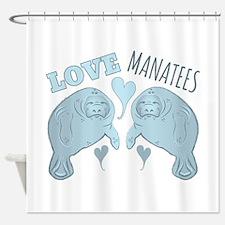 Love Manatees Shower Curtain