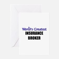 Worlds Greatest INSURANCE BROKER Greeting Cards (P