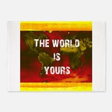 The World Is Yours 5'x7'Area Rug