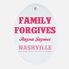 FAMILY FORGIVES Oval Ornament