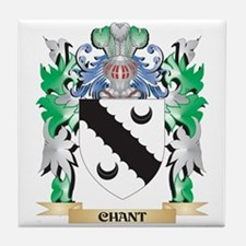 Chant Coat of Arms - Family Crest Tile Coaster