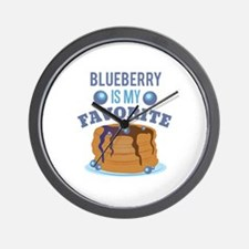 Blueberry Favorite Wall Clock