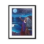 Wisdom of Moon Framed Panel Print