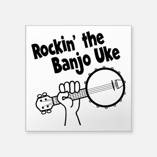 "BANJO UKE Square Sticker 3"" x 3"""