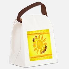 hello sunshine Canvas Lunch Bag