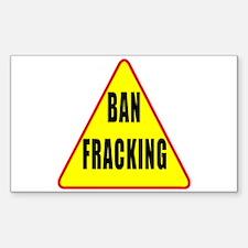Ban Fracking Decal