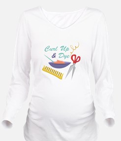 Curl Up Long Sleeve Maternity T-Shirt
