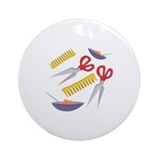 Beautician Tools Round Ornament