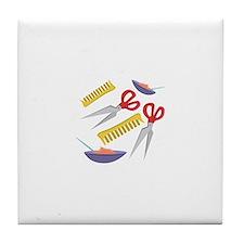Beautician Tools Tile Coaster