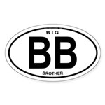 Big Brother Euro Oval Oval Sticker