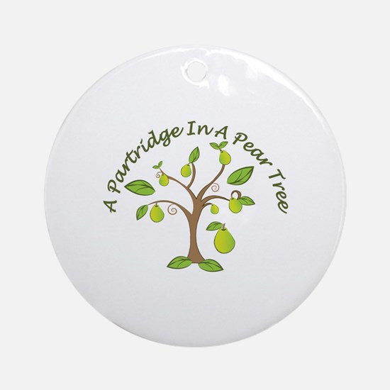 In Pear Tree Round Ornament