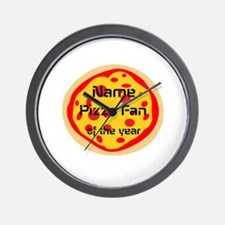 Funny Pizza Fan Wall Clock