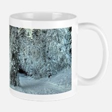Snow In The Mountains Mugs
