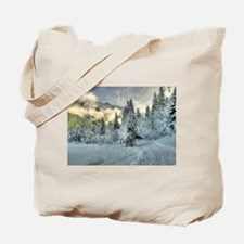 Snow In The Mountains Tote Bag