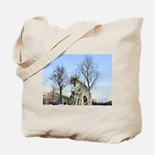 Pack Of Wolves During Winter Tote Bag