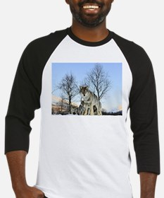 Pack Of Wolves During Winter Baseball Jersey