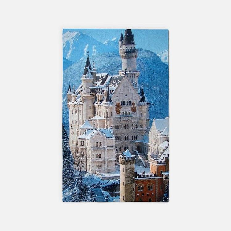 Castle In The Winter Area Rug